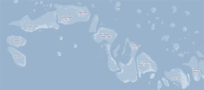 map of the barrier reef