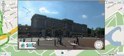 Seety map showing Buckingham Palace