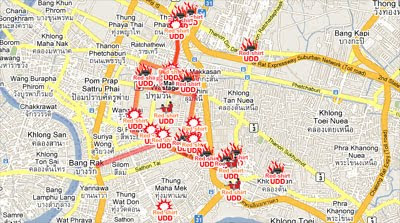 Maps Mania: Thailand Protests on Google Maps