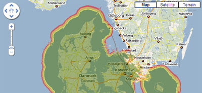 Maps Mania: Danish Digital TV Coverage Map