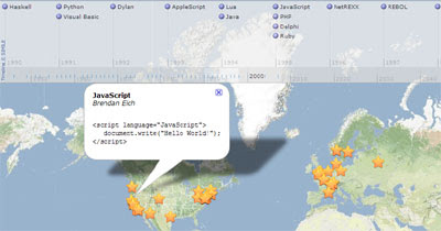 Google Maps Mania: Google Map of Programming Languages