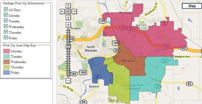 Maps Mania: Google Maps of Mankato, Minnesota