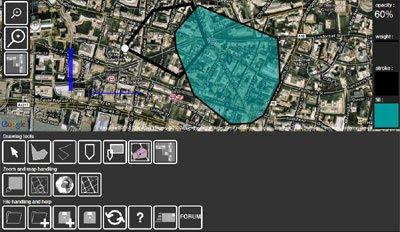 Jerusalem, Israel, Free printable SVG map, hebrew