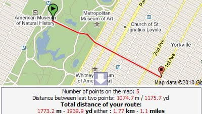 Maps Mania Plan Your Jogging Route With Google Maps - Route map and distance calculator