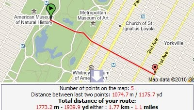 maps mania plan your jogging route with google maps. Black Bedroom Furniture Sets. Home Design Ideas