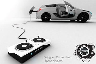 Audi O es un prototipo de vehículo de la marca alemana Audi, el cuál, desde su concepción por el diseñador de este vehículo, pretende unir el mundo del audio y la automoción.