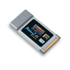 Tarjeta de sonido para portátiles: Sound Blaster Audigy 2 ZS Notebook 7.1 PCMCIA THX