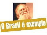 una foto de Maddog en la que se puede leer: Brasil e exemplo