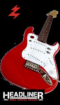 Fotografía con el logo de esta guitarra polivalente
