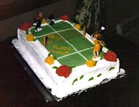 Soccer Birthday Cake for my 10 year old nephew having 30 major food allergies