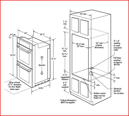 Wall Oven Cabinet Dimensions Www Imgkid Com The Image