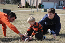 Football with Dad and Jake