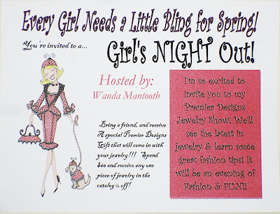 Dusty us diaries wanda39s premier jewelry party for Premier designs party invitations