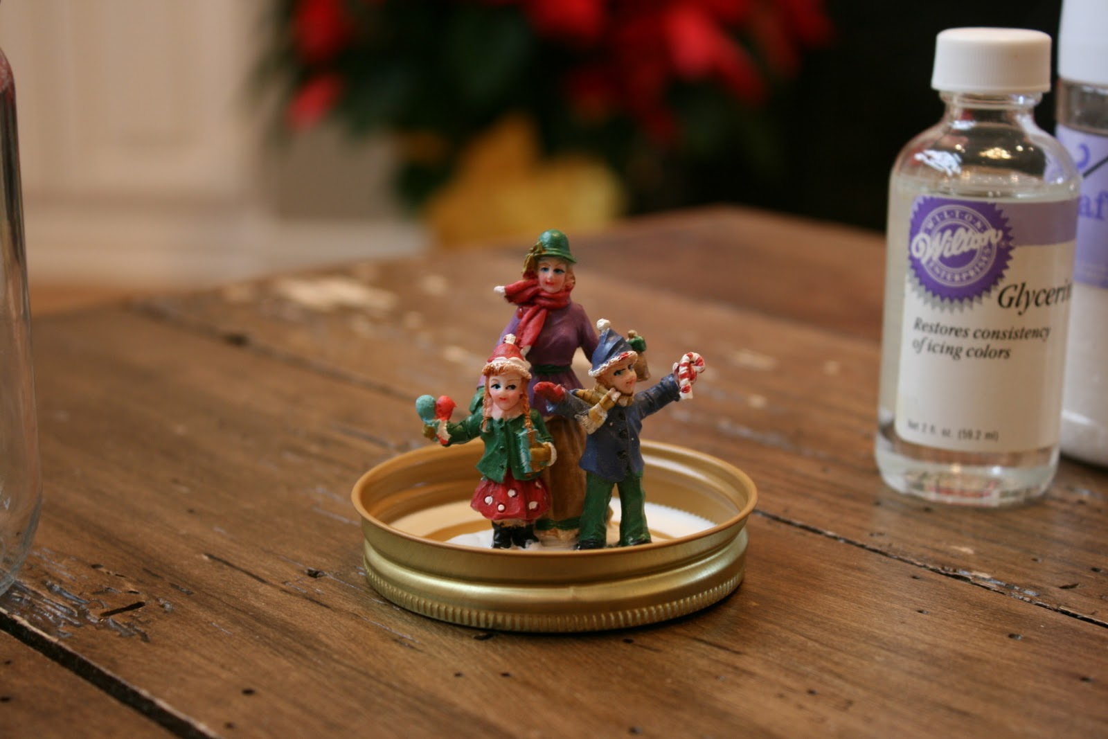 Sew anna designs homemade snow globes day 5 of the 12 for Easy homemade christmas snow globes