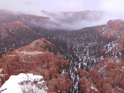 Canyon view with snow