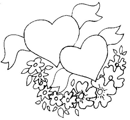 coloring pages of flowers and hearts. coloring pages of hearts and
