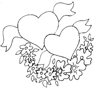 Free online valentine coloring pages