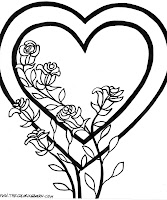 Valentine Day Coloring Pages of Flowers
