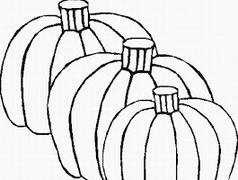 Pumpkin Fall Harvest Coloring Page
