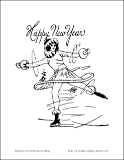 new year celebration dance coloring page