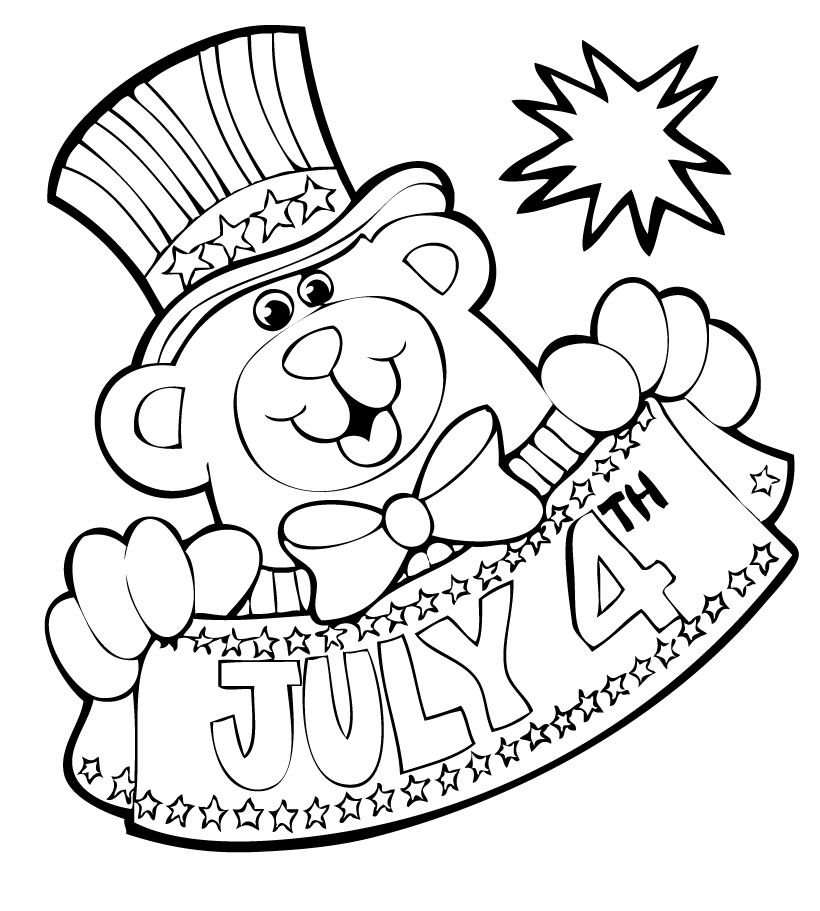 Free Coloring Pages Fourth of