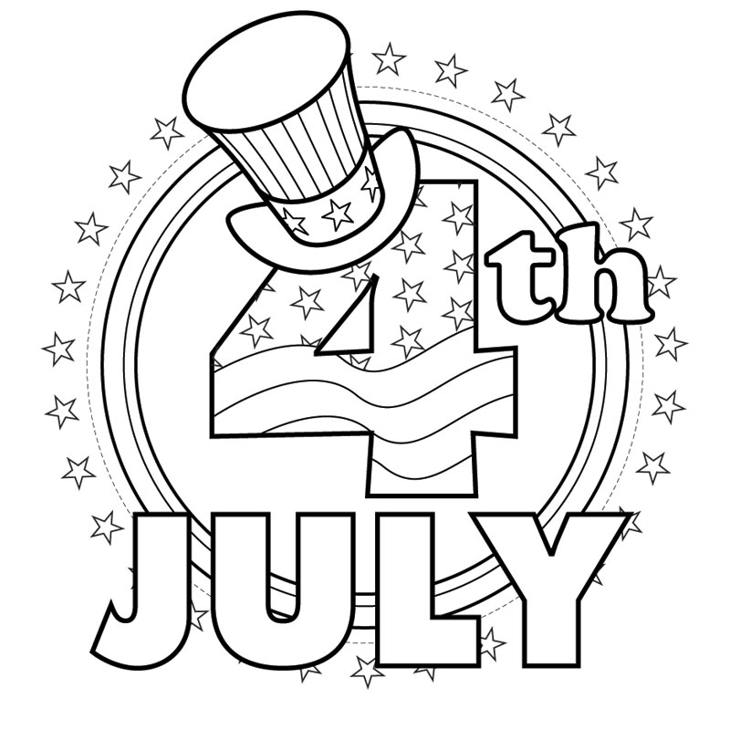 Coloring Pages 4th Of July : Fourth of July Coloring Pages