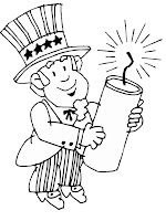 fourth july firework coloring pages