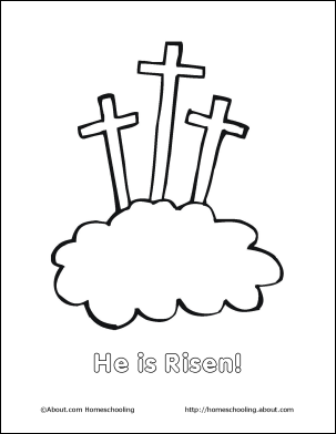 Easter coloring pages august 2010 for Jesus is risen coloring page