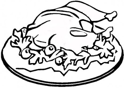 Turkey Food Coloring Pages