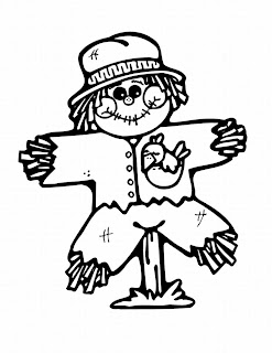 pumpkin face scarecrow coloring pages