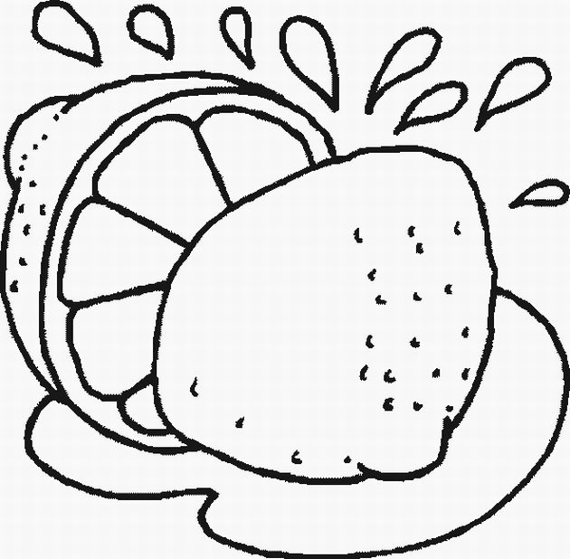Chinese Tangerines Coloring Pages, Chinese New Year Orange Tangerine title=