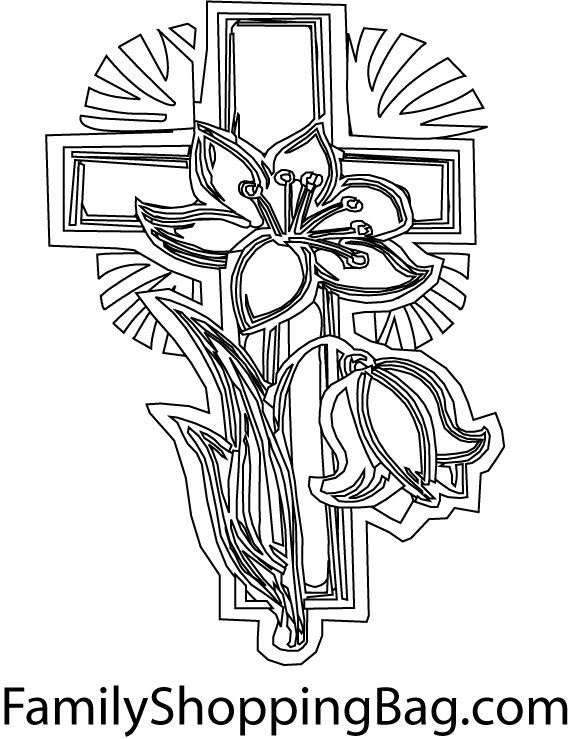 coloring pages easter jesus. These Easter Cross Coloring