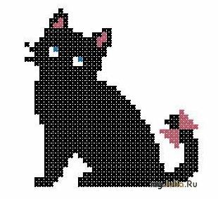 Схема кошка вязание