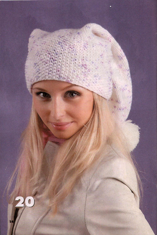 Каталог вязаных шапок фото