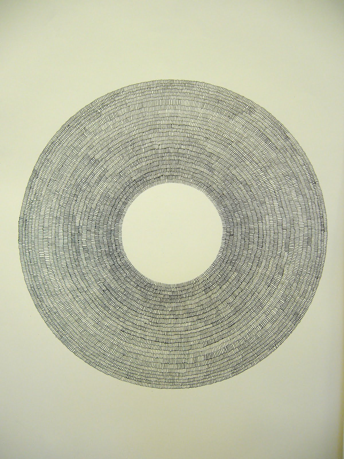 Sarah Clark Third Circular Ink Drawing