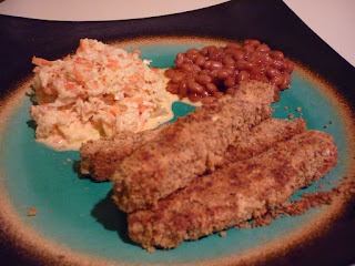 Tofu Fish sticks and Coleslaw