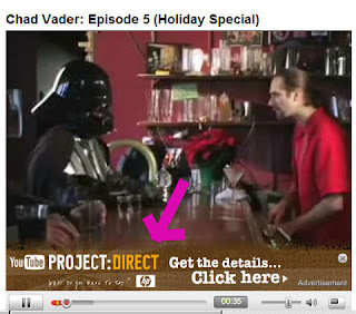 screenshot of youtube with in video overlays