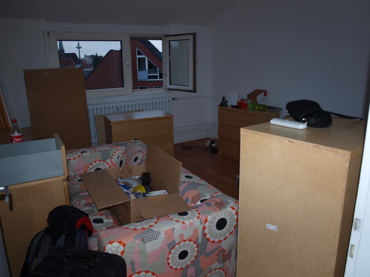 2 mausis in m nster unsere erste gemeinsame wohnung. Black Bedroom Furniture Sets. Home Design Ideas