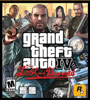 Grand Theft Auto IV, GTA 4, The Lost and Damned, PS3, box, art, screen