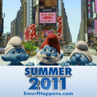 The Smurfs, teaser, poster
