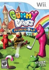 Gummy Bears Minigolf, nintendo, wii, box, art