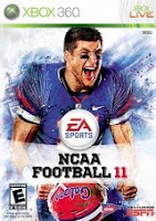 NCAA Football 11, game, xbox, box, art