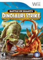Battle of Giants,  Dinosaurs Strike, Videogame, Wii, box, art