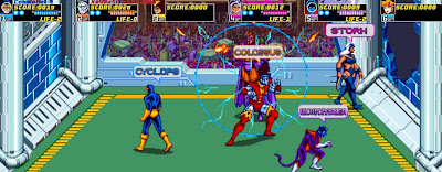 X-Men: The Arcade, game, screen