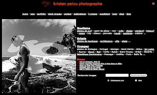 Photographe de surf, Kristen Pelou