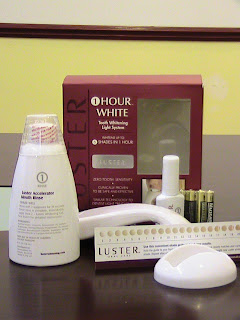 Luster teeth whitening treatment