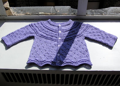 Looking Glass Knits: Eyelet Baby Cardigan pattern