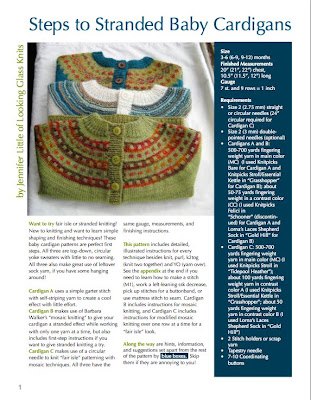 Looking Glass Knits: At long last... Steps to Stranded!