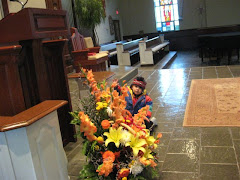 Investigating Flowers At Church