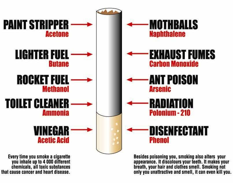 Kandungan Asap Rokok Kandungan Dalam Suatu Asap